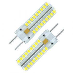 Seami 5W G6.35/GY6.35 Ampoule LED 450LM Blanc Froid 6000K,Bi-Pin Base, Equivalent à Ampoule Halogène 50W,AC/DC 12V,pour comptoirs, plafonniers etc (2 paquet) (seami, neuf)