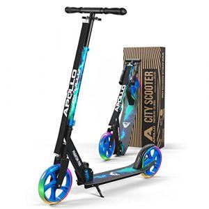 Apollo XXL Wheel Scooter 200 mm - Phantom Pro Universe LED est Un Trotinette City Scooter de Luxe, City-Roller Pliable et réglable en Hauteur, Kick Scooter pour Adultes et Enfants (geschenk-kiosk, neuf)
