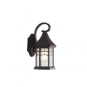 Dicai Américain Verre Applique Murale Vintage Applique Étanche Lampe De Jardin High Grade Applique Murale Allée Balcon Lecture 1-Lumière E27 Edison Rétro Applique Industrielle (Color : Black) (Xin Hongming, neuf)