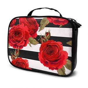 Les sacs à cosmétiques pour les femmes voyagent, Étui sans couture avec motif Roses Ground (Helen vi, neuf)