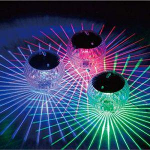 Uonlytech Lumière flottante solaire, lumière solaire de piscine de boule magique de changement de couleur, lumière solaire de bassin pour l'étang de piscine (Vivinacy, neuf)