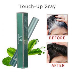 Craie de cheveux professionnelle Teinture de cheveux temporaire Non toxique Crayon Cover Couleur blanche Patch de couleur de cheveux - pour tous les cheveux (Lucktar, neuf)