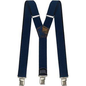 Bretelles Y entièrement réglable pour Homme Femme 4 cm avec 3 Clips élastique Solide Casual Pantalon Jeans Différentes Couleurs Noir, Marron, Bleu (Bleu) (Decalen France, neuf)