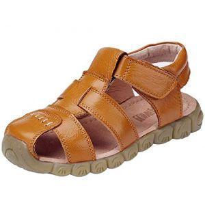DADAWEN Mixte Enfant Leather Oxford Sandale(Garçon/Fille/Bébé)-Jaune 34 (Shenzhen Ledawen Trading Co.,Ltd, neuf)