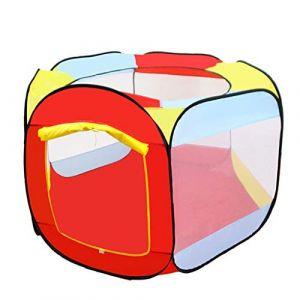 Piscine à Balles pour Enfants Bébé Tente Pliables de Jeu Bébé Portable Piscine Boules Océan Ball Pool, Parc de jeu pour enfants, sans balles Serria 140x75cm (Serria, neuf)
