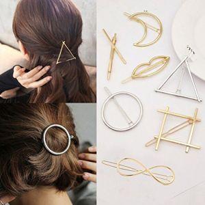 cuhair (TM) 7pcs métal punk Cercles accessoires pour cheveux barettes de pince à cheveux broches accessoires pour cheveux pince à cheveux (adiasen chen, neuf)