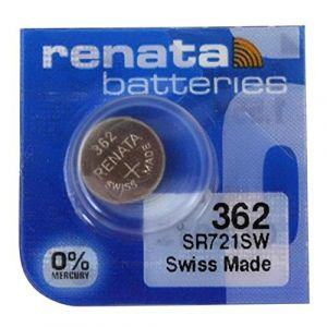 2 x renata montre bracelet pile - fabriqué en Suisse - Batteries Cells argent oxyde 0% mercure GRATUIT PILE BOUTON 1.55V Renata longue durée batteries - Argent, 362 (SR721SW) (SoBazar, neuf)