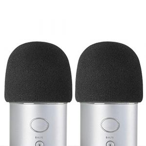 YOUSHARES Filtre Anti Pop et Anti-vent pour Blue Yeti Microphone, Blue Yeti Pro Micro Anti Vent, Bonnette Mousse Comme Pare-Brise Efficace Enlever les Bruits (2 Packs) (Heartorigin-FR Direct, neuf)