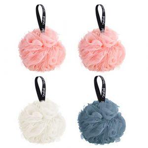 Fleurs de Bain Éponge Loofahs Fleur de Douche Lot de 4 Paquets Éponge de Douche Éponge de Bain pour Bain Douche éponge pour bain et douche Pour Hommes Femmes (kkkier2018, neuf)