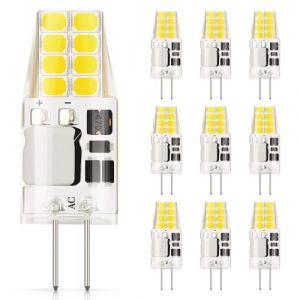 DiCUNO G4 LED Ampoule, 10 × 3W 20 * 2835 Equivalent 30W Halogène, AC/DC 12V, 300LM, Non-Dimmable, Blanc froid 6000K, Économies d'énergie, 360° Angle de Faisceaux (DiCUNO EU Direct, neuf)