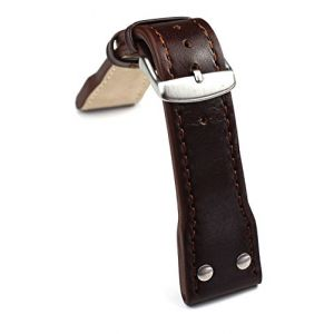 24mm Bracelet en cuir aviateur Montres bande Pilot Aviator style Extra Forte Genuine Bracelet Cuir Marron (Sammlerparadies, neuf)