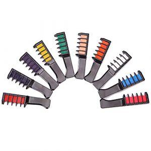 Crayon Cheveux Poudre Peigne Non Toxique Lavable Mini InstantanéE Jetable Temporaire Jetable Coloration Des Cheveux Stylo Enfant Couleur Cheveux BâTon (kunshanshichuanyuehulianwangluokejiyouxiangongsi, neuf)