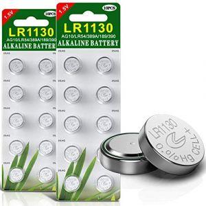 Paquet DE 20 Piles Bouton alcaline de la Pile LR1130 AG10 (Haiqiu Business, neuf)