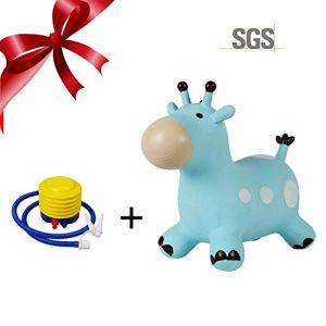 PROKTH Cheval gonflable - Ballon sauteur - Animaux sauteur - Jeux exterieur pour enfant et bebe à la maison et à la maternelle (Zhuoshilang®, neuf)