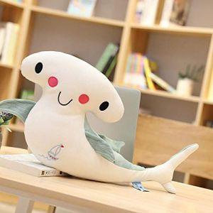 Peluche jouet smiley requin baiser requin mignon créatif animal marin poupée enfants cadeau-Requin smiley vert_90 cm (lizhaowei531045832, neuf)