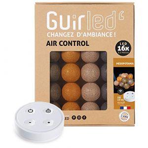 Guirlande lumineuse boules coton LED USB - Télécommande sans fil - Chargeur double USB 2A inclus - 4 intensités - 16 boules - Mesopotamia (Lighting Arena, neuf)