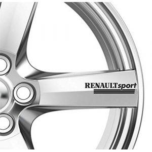 6x Renault Sport Roues en alliage Nail Art Stickers adhésifs de qualité supérieure pour Megane (Stukk, neuf)