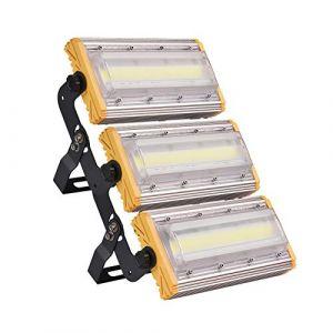 Kaigeli888 LED Projecteur, 150W Spot LED Lumière Extérieur Intérieur [IP65 Etanche] Haute Puissance [12000LM IP65 Etanche] en Arc Eclairage Plus Loin Vaste - Blanc Froid (papasbox, neuf)