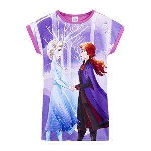 Disney Frozen 2 Chemise De Nuit Enfant Fille avec Anna Et Elsa Vetement Costume Deguisement Reine des Neiges Pyjama Enfant Fille, Idée Cadeau Enfants 3-12 Ans (9-10 Ans) (F &F Stores, neuf)