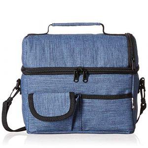 PuTwo Sac Isotherme Grande Capacité 8L Sac Repas Pour Enfant Travail Pique-Nique - Bleu Jean (LQ Direct, neuf)
