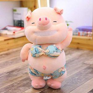 Jouet En Peluche Petit Cochon Sexy, Oreiller De Cochon De Plage En Peluche Animal Mignon, Jouet Pour Poupée, Cadeau D'Anniversaire 35Cm Jaune (lizhaowei531045832, neuf)