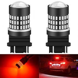 KaTur 3157 3047 3057 3155 3156 Ampoule à LED 900 Ampoules 3014 Ampoule 78SMD à LED pour feu Stop Clignotant feu de recul, Rouge Brillant (Pack de 2) (KAtur, neuf)