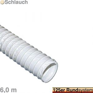 Tuyau d'évacuation 125 mm / 6 Meter / PVC Weiß (Bremen-Haushalt, neuf)