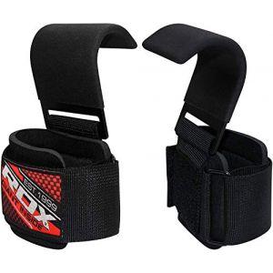 RDX Gym Crochet Sangle Fitness Musculation Poignet Support Crossfit Entraînement Haltérophilie - Noir (RDXINC LTD, neuf)