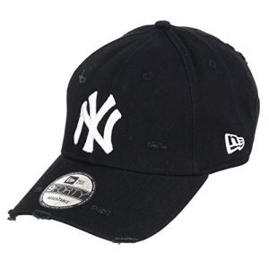 Unbekannt New Era 9Forty Strapback Casquette MLB Yankees de New York Plusieurs Couleurs - NY Usé Noir, OSFA (One Size Fits All) (capspin, neuf)