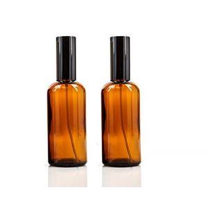 Lot de 2vaporisateurs de parfum en verre de 100ml avec fine Brume d'huile essentielle de Sprayer-refillable Cosmétique Maquillage Parfum de conservation bocaux Pot Atomiseur (Ambre) (upstore-eu, neuf)