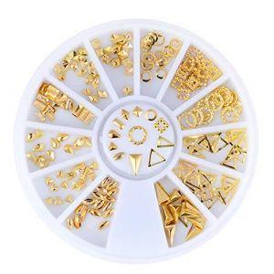 Holzsammlung 1 Boîte de Petit Strass Decoration Ongles Gel Tip Glitter rond Coloré en Résine pour Nail Art Manucure #36 (collecte de bois, neuf)