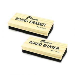 Brosse en Bois pour Ardoises Blanches et Noires- Effaceur Tableau Blanc et Noir - En Bois et Feutrine - 2 PCS (Thread Trade, neuf)