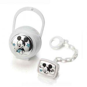 Disney Baby- Mickey Mouse - Attache sucette, chaîne avec boîte en argent - cadeau pour baptême/anniversaire (Valenti&Co, neuf)