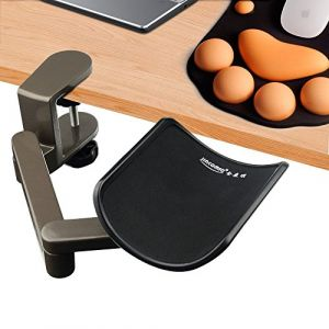 Wrist Rest Accoudoir Support d'avant Bras Réglable Repose Bras Articulé Ergonomique en Alliage d'Aluminium pour Ordinateur Bras-Stand Bureau Extender (E-More Store, neuf)
