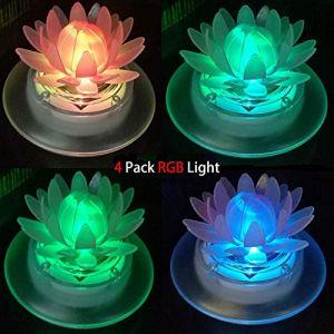 Lampes solaires de bassin flottant étanche Jardin piscine lumières LED pour extérieur Décoration de jardin, Plastique, 4Pcs Louts 1.20volts (Langxu, neuf)