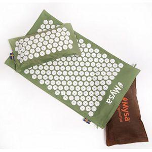 ERGONO MYSA DUO: Le seul tapis d'acupression ergonomique 100% chauffant! Avec Thermo Coussin (cervicales) et l'Hot Ergonopad (lombaires): Max bénéfice analgésique et décontractant + AUDIO/TUTORIAL (M Y S A, neuf)