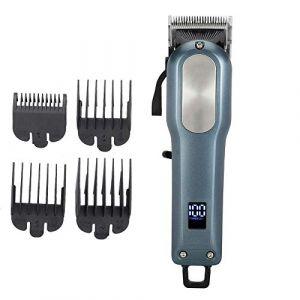 Tondeuse à cheveux électrique - Tondeuse à cheveux sans fil, Tondeuse à barbe - Outil de coiffure rechargeable - Tondeuse à cheveux, Tondeuse à barbe pour homme - Tondeuse électrique (Qkiss, neuf)
