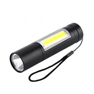 Mini lampe de poche, lampe de poche portative à DEL de poche USB avec lampe de poche portative pour le camping, extérieur, urgence, tous les jours (runatyo, neuf)