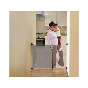 NEW Dreambaby Retractable Baby Mesh Stair Gate - Grey (BabySecurity, neuf)