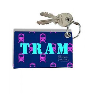 Porte-clés Carte de Tram, Etui Porte-clés Carte de Tram (Bleu) (bistrakoo, neuf)