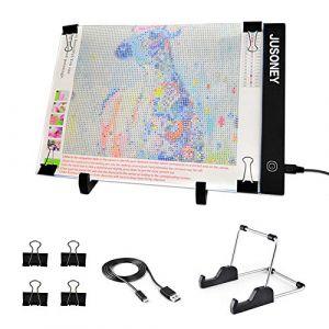 JUSONEY Tablette Lumineuse pour Le Diamond Painting, A4 LED,également idéal pour Le Dessin d'artiste, Le Scrapbook, Le Croquis, la Conception d'animation de Stencilling, etc (jusoney, neuf)