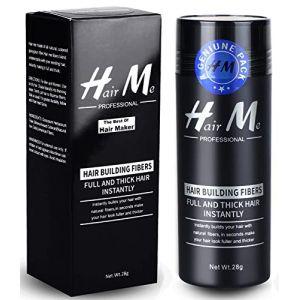 Poudre Cheveux,Poudre Densifiante Poudre Volume Cheveux Chatain Calvitie Homme Hair Building Fibers?Brun foncé? (LILIOOY, neuf)