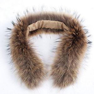 ELEAR® Genuine Fur Collar femmes woMen épais écharpe de fourrure de raton laveur / châle / envelopper le cou pour le manteau (Etocars, neuf)