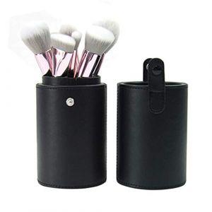 Pinceau de maquillage ensemble 10 poils d'animaux ensemble complet d'outils de maquillage brosse poudre libre fard à paupières brosse, baril (runkaijz, neuf)