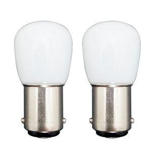[2 pièces] B15 Petite Ampoule LED Ronde 1.5W Remplacement 15W Ampoule Halogène Blanc Froid Abat-Jour 6000K 120lm Chaleur Non-Réglable Réfrigérateur/Machine à Coudre (MZMing, neuf)