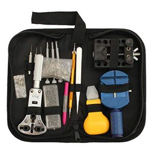 Mentin Kit Réparation Montre Outils Professionnel 144pcs pour Montre Ensemble Lien Ouvrir Ajuster Table Arrière (Mentin, neuf)