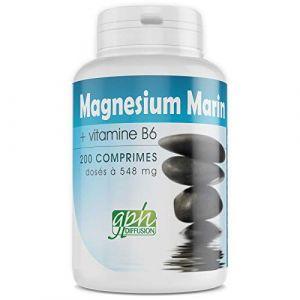 MAGNESIUM MARIN + Vitamine B6-548 mg - 200 comprimés (123PLANTES, neuf)