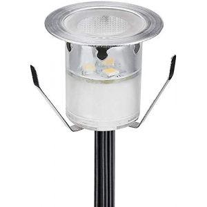 Lot de 1 LED Spot Encastrable Extérieur - Mini spot encastré de Ø30mm Eclairage Encastrables Extérieur pour Terrasse Enterre, IP67 Etanche DC12V Lumière pour Escalier(Blanc Froid) (CHENXU, neuf)