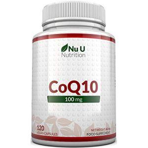 Coenzyme Q10 100mg | 120 CoQ10 Gélules | Compléments alimentaires de Nu U Nutrition (nuunutrition, neuf)
