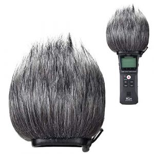 YOUSHARES Bonnette anti-vent Furry à l'extérieur pour enregistreurs numériques portables pour Zoom ZH1/H1, protection anti-pop filtre / pare-vent pour Zoom ZH1, enregistreur portable H1 (Heartorigin Direct, neuf)